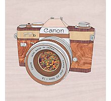 Wood Canon Photographic Print