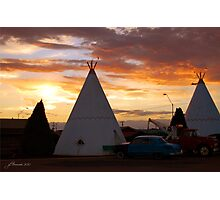Route 66 Accomodations Photographic Print