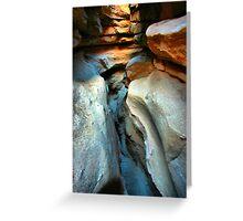 Anza Slot Canyon Greeting Card