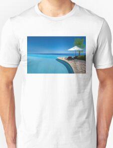 Postcard from Anse Lazio beach at Praslin island, Seychelles T-Shirt