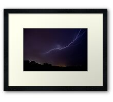 New years day fireworks. Framed Print