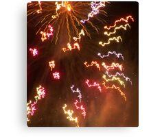 NYE fireworks Canvas Print
