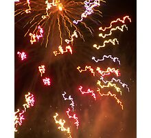 NYE fireworks Photographic Print