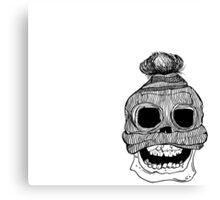 Skull with Skull Cap Canvas Print