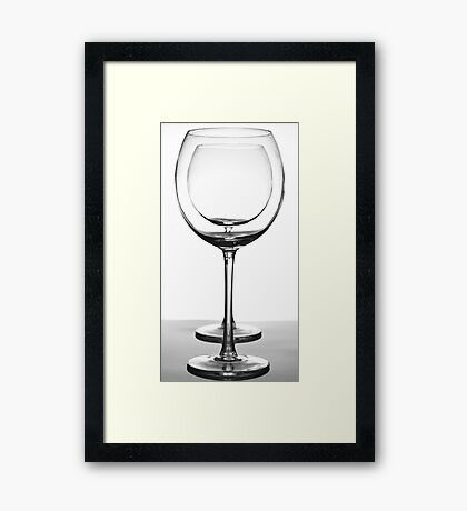 Crystal Glasses Framed Print