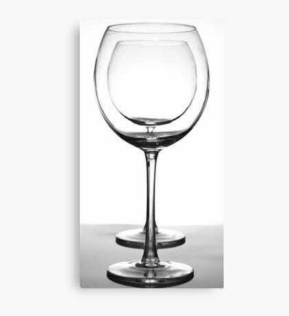 Crystal Glasses Canvas Print