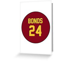 Retro Arizona State University Sun Devils Barry Bonds #24 Back Greeting Card
