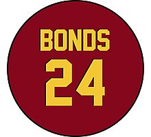 Retro Arizona State University Sun Devils Barry Bonds #24 Back Photographic Print