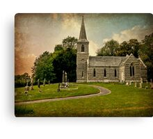 Church of St Nicholas (Texture Version) Canvas Print