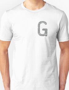 'G' Patterned Monogram  T-Shirt