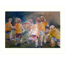 Little Soccer Players Art Print
