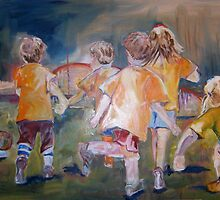Little Soccer Players by Robin Borland