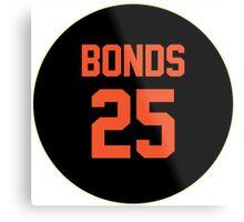 San Francisco Giants Barry Bonds #25 back Metal Print