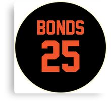 San Francisco Giants Barry Bonds #25 back Canvas Print