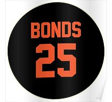 San Francisco Giants Barry Bonds #25 back Poster