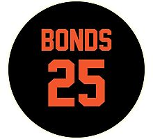 San Francisco Giants Barry Bonds #25 back Photographic Print