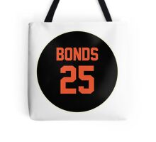 San Francisco Giants Barry Bonds #25 back Tote Bag