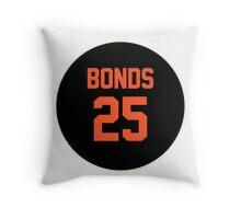 San Francisco Giants Barry Bonds #25 back Throw Pillow