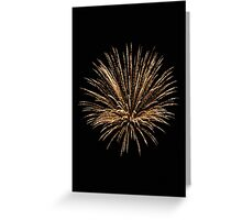 Shower of Golden Firework Greeting Card