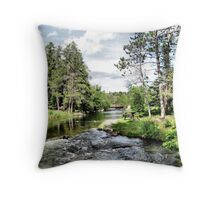 Rushing River #6 Throw Pillow