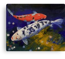 Bekko Koi Fish Canvas Print