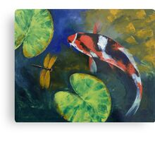 Showa Koi and Dragonfly Metal Print