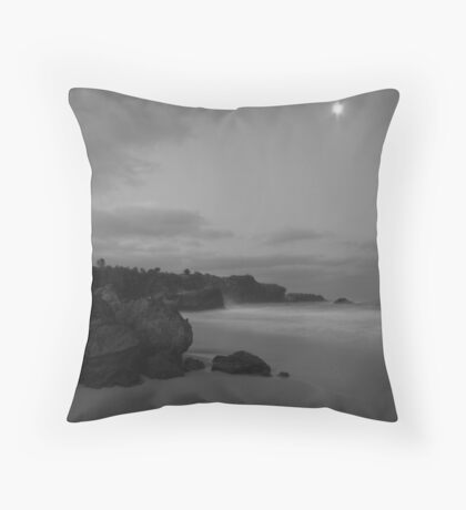 The Moon Watches the Tide Throw Pillow