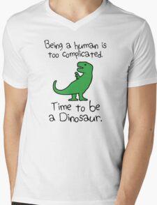 Time To Be A Dinosaur Mens V-Neck T-Shirt