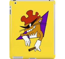 Cool Cat with the Rooster Hat! iPad Case/Skin