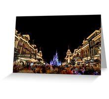 Main Street USA at Magic Kingdom Greeting Card