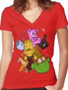 BoomBoxClapp Women's Fitted V-Neck T-Shirt