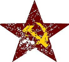 Red star hammer and sickle rusty revolution by SofiaYoushi