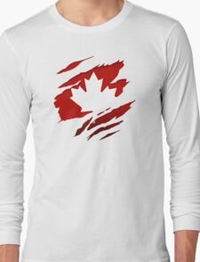 Canada Red Leaf Long Sleeve T-Shirt