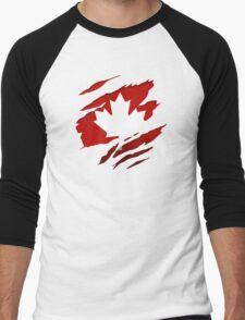Canada Red Leaf Men's Baseball ¾ T-Shirt