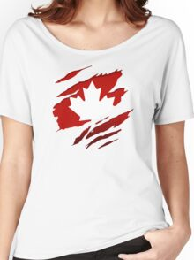 Canada Red Leaf Women's Relaxed Fit T-Shirt