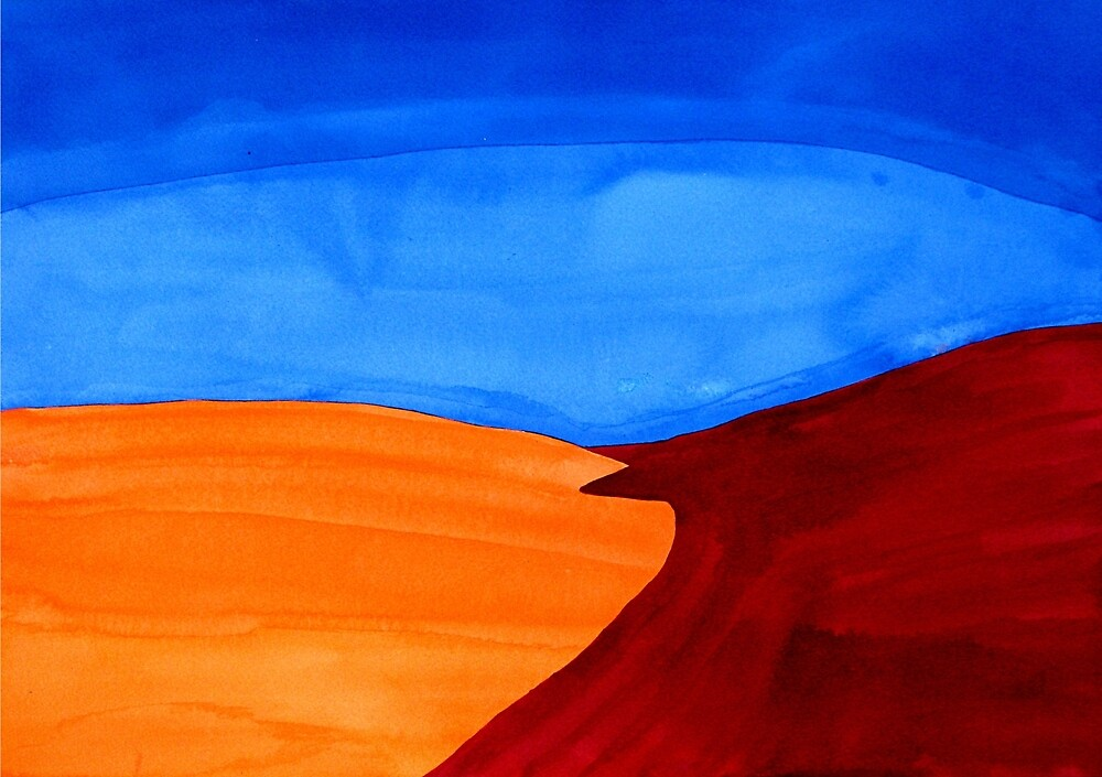 Dunes original painting by CrowRisingMedia