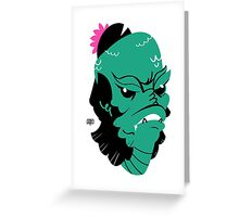 Gill-men and flowers Greeting Card