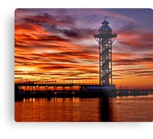 Sunset at Dobbins Landing - Erie, PA Metal Print