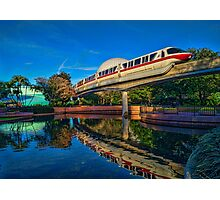 Monorail Red: Reflected at Epcot Photographic Print