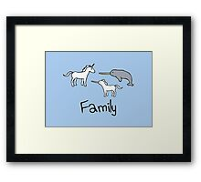 Family - Unicorn, Narwhal, Narwhalicorn Framed Print