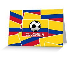Colombia Football Greeting Card