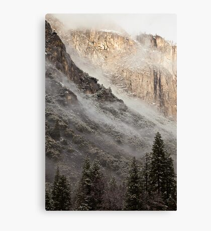 Low Clouds over Yosemite Canvas Print