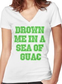 Drown Me In A Sea Of Quac Women's Fitted V-Neck T-Shirt