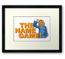 The Name Game Sister Jude w/ text Framed Print