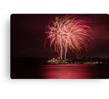 Wishes Fireworks from the Transportation and Ticket Center Canvas Print