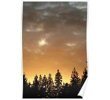 Golden Glow Sky Poster