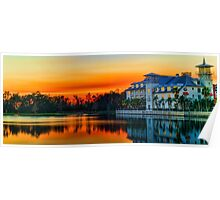 Celebration, Florida at Sunset Poster