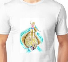 Alice Surfing on a Halibut Unisex T-Shirt