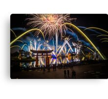 Fireworks from Epcot - Illuminations Reflections of Earth Canvas Print