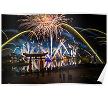 Fireworks from Epcot - Illuminations Reflections of Earth Poster